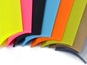 Silicone Squares and Flat Ribbons - standard and individually customized